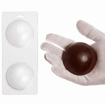 """Пластиковая форма для шоколада """"Полусфера 8 см"""" арт. ВК02062038, фото 2"""