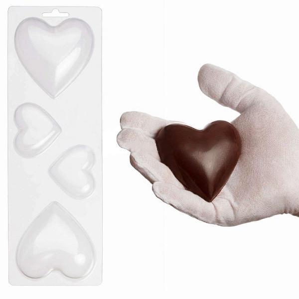"""Пластиковая форма для шоколада """"Сердца"""" арт. ВК02062045"""