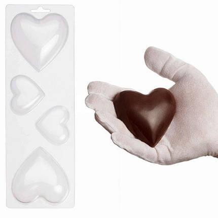 "Пластиковая форма для шоколада ""Сердца"" арт. ВК02062045, фото 2"