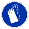 Предписывающий знак «Работать в защитных перчатках»