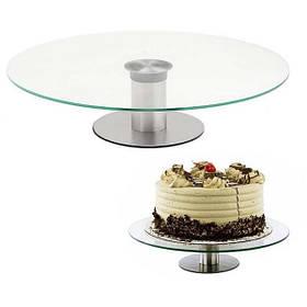 Стеклянная подставка для торта  на высокой ножке Ø30 см арт. 890-8085230