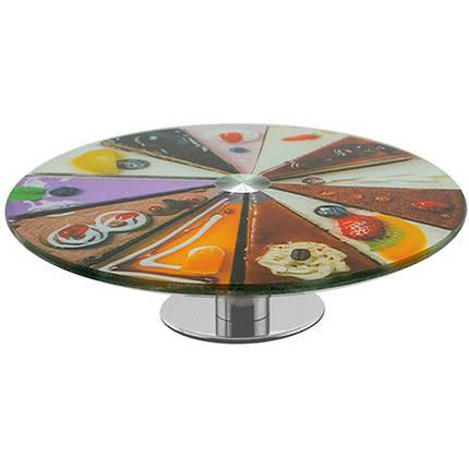 Стеклянная подставка для торта  на высокой ножке Ø30 см арт. 890-8382259, фото 2