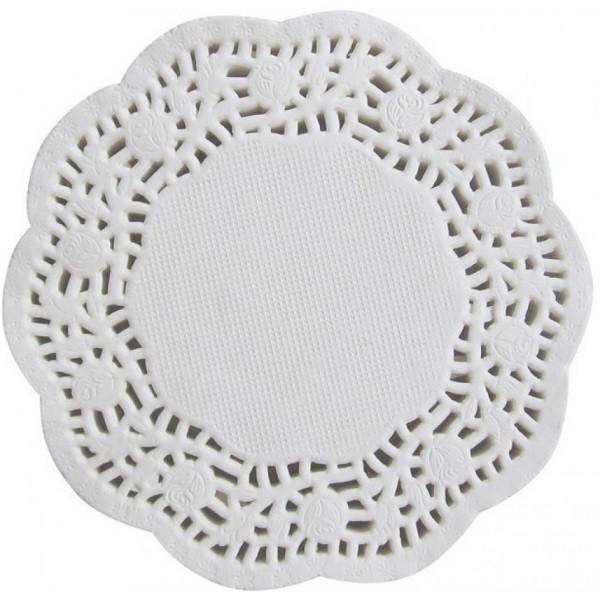 Кондитерская ажурная салфетка Ø 12.5 см (100 штук) арт. 870-224655
