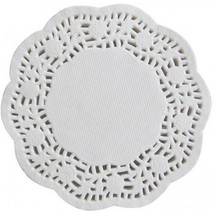 Кондитерская ажурная салфетка Ø 12.5 см (100 штук) арт. 870-224655, фото 2