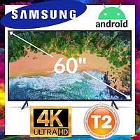 Телевизор Samsung экран 60 дюймов, Телевизор Самсунг 60 дюймов 4к, ANDROID