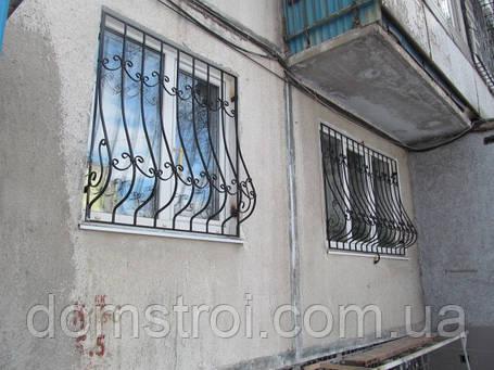 Решётки на окна с коваными элементами с покраской, фото 2