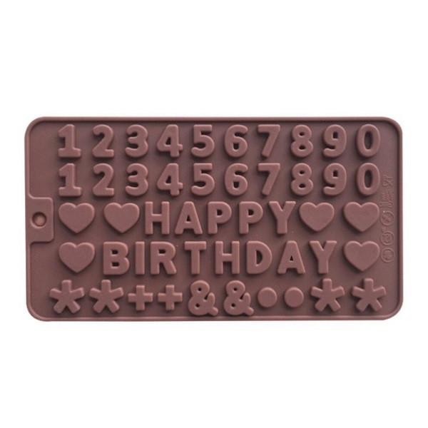 """Силиконовая форма для конфет """"Happy Birthday"""" арт. 870-404023"""