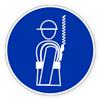 Предписывающий знак «Работать в предохранительном поясе.