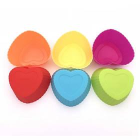 """Набор силиконовых форм для выпечки кексов """"Сердечки"""" арт. 860-155019"""