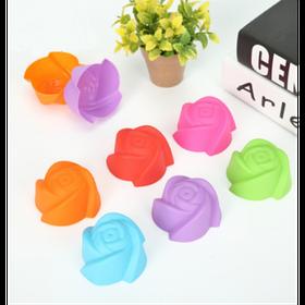 """Набор силиконовых форм для выпечки кексов """"Цветы"""" YH-025 арт. 822-15A-3"""