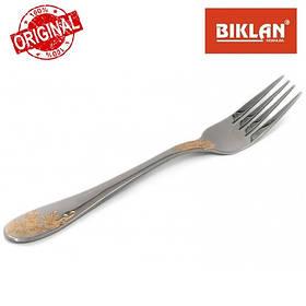 """Вилка десертна """"Золота гілка"""" BIKLAN (нержавіюча сталь, 6 шт. в упаковці) арт. 164106"""