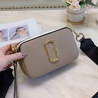 Жіноча сумка Marc Jacobs Snapshot Dark Beige | Клатч Марк Джейкобс Снапшот Темно коричневий