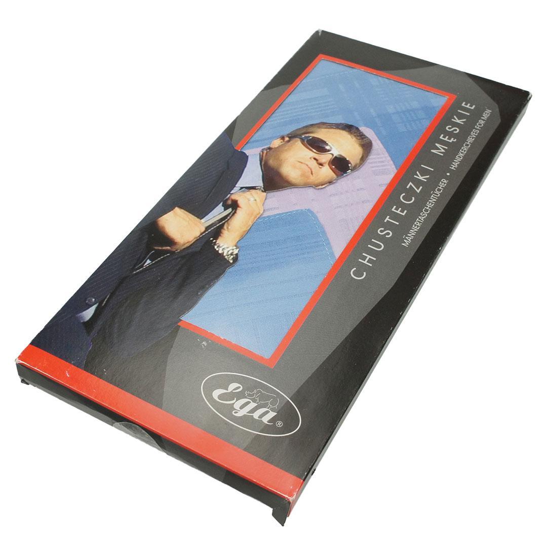 Подарунковий набір чоловічих носових хусток EGA 6 шт СН-007/6 C