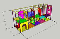 """Детский игровой лабиринт """"Дисней мини"""" 6,35м х 2,6м х 2,5м"""