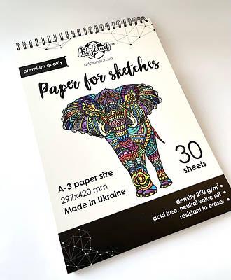 Бумага для рисования и скетчинга Art Planet А3 альбом 30 листов