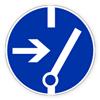 Предупреждающий знак «Отключить перед работой».