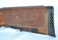 Патронаш на приклад 6 патронов кожа черный коричневый, фото 1