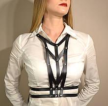 Стильна жіноча портупея з штучної шкіри. Розмір універсальний, 42, 44, 46, 48
