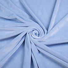 Ткань Стрейч Велюр, голубой