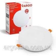 Свiтлодiодний свiтильник VARGO коло, потужність  24W, 175-265V з регульованими кліпсами (111778)
