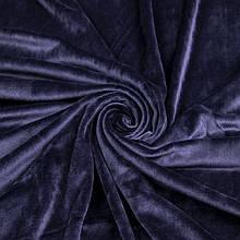 Ткань Стрейч Велюр, темно синий