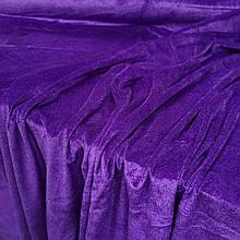 Ткань Стрейч Велюр, фиолетовый