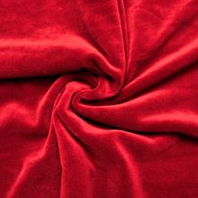 Ткань Стрейч Велюр, красный