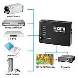 HDMI-перемикач Dellta HS55 на 5 портів HDMI switch з пультом ДУ (3843), фото 9