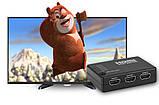 HDMI-перемикач Dellta HS55 на 5 портів HDMI switch з пультом ДУ (3843), фото 10