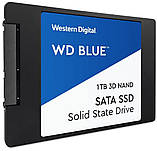 "SSD накопитель WD Blue 3D NAND 1TB 2.5"" SATAIII (WDBNCE0010PNC) Siamo, фото 2"