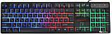 USB проводная компьютерная клавиатура + мышка UKC HK-6300TZ с RGB подсветкой (6944) Siamo, фото 2