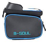 Велосипедна сумка B-Soul з відділенням для телефону на раму Blue, фото 3