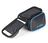 Велосипедна сумка B-Soul з відділенням для телефону на раму Blue, фото 5