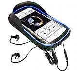 Велосипедна сумка B-Soul з відділенням для телефону на раму Blue, фото 6