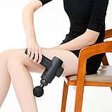 Аккумуляторный портативный ручной массажер для тела Fascial Gun KH-320 Black (WJ5) (14019) Siamo, фото 4