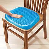 Гелевая ортопедическая подушка для сидения Egg Sitter + чехол (6724) Siamo, фото 5
