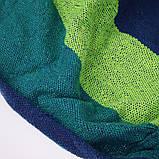 Мексиканский гамак хлопок с упорными планками 240 x 80 см + чехол Синий (14941) Siamo, фото 5