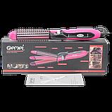Багатофункціональна плойка прасочку для волосся 3в1 Gemei GM 2922 рожевий (3806), фото 6