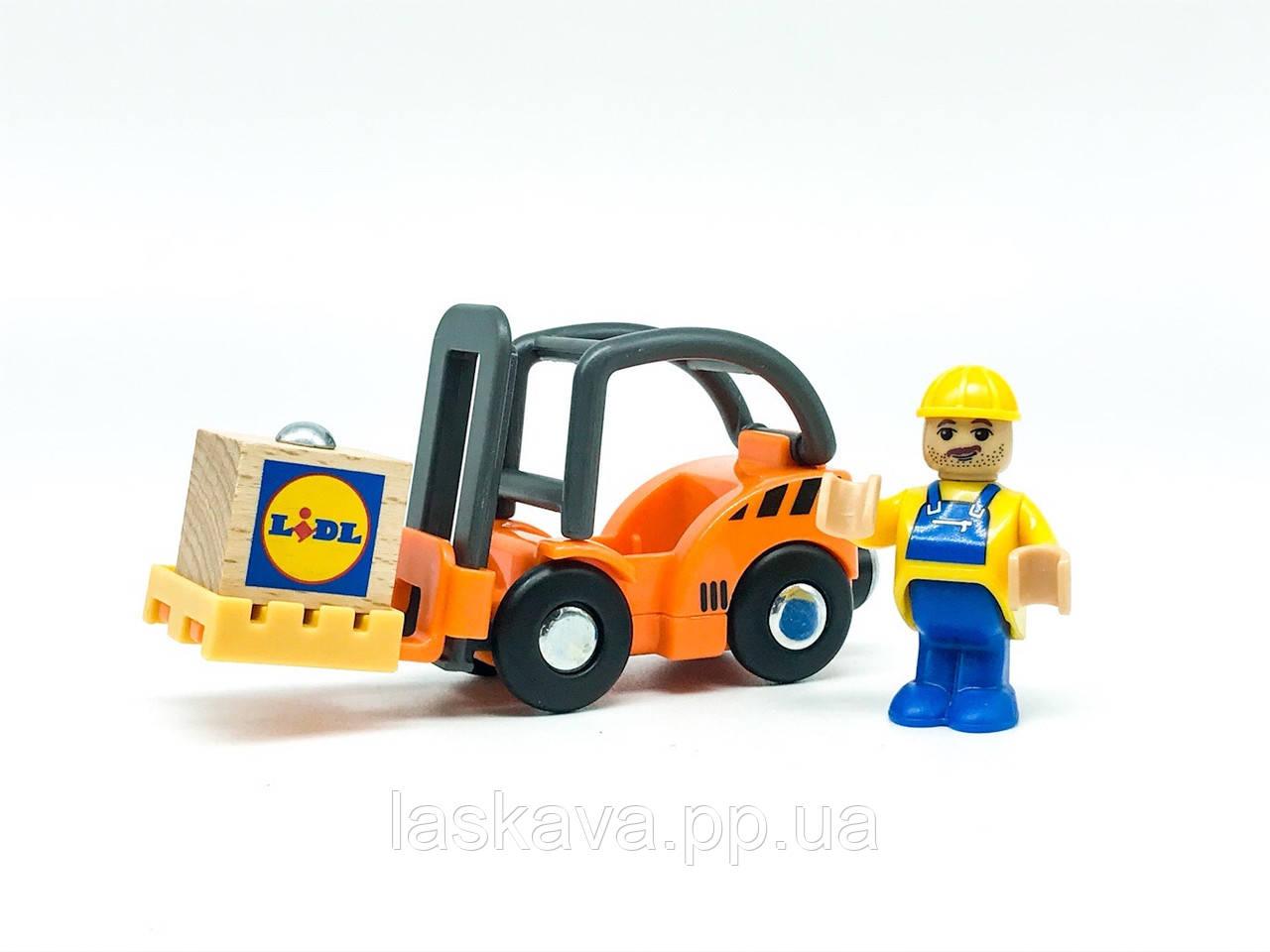 Набір машинок для деревяної залізниці PlayTive Ikea Brio Вантажопідйомник