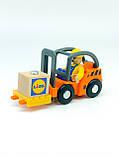 Набір машинок для деревяної залізниці PlayTive Ikea Brio Вантажопідйомник, фото 3