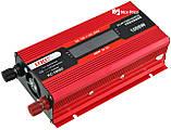 Преобразователь UKC авто инвертор 12V-220V 1000W LCD KC-1000D + USB Red (2812) Siamo, фото 3