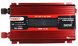 Перетворювач UKC авто інвертор 12В-220В 500W LCD KC-500D + USB Red (3738), фото 2