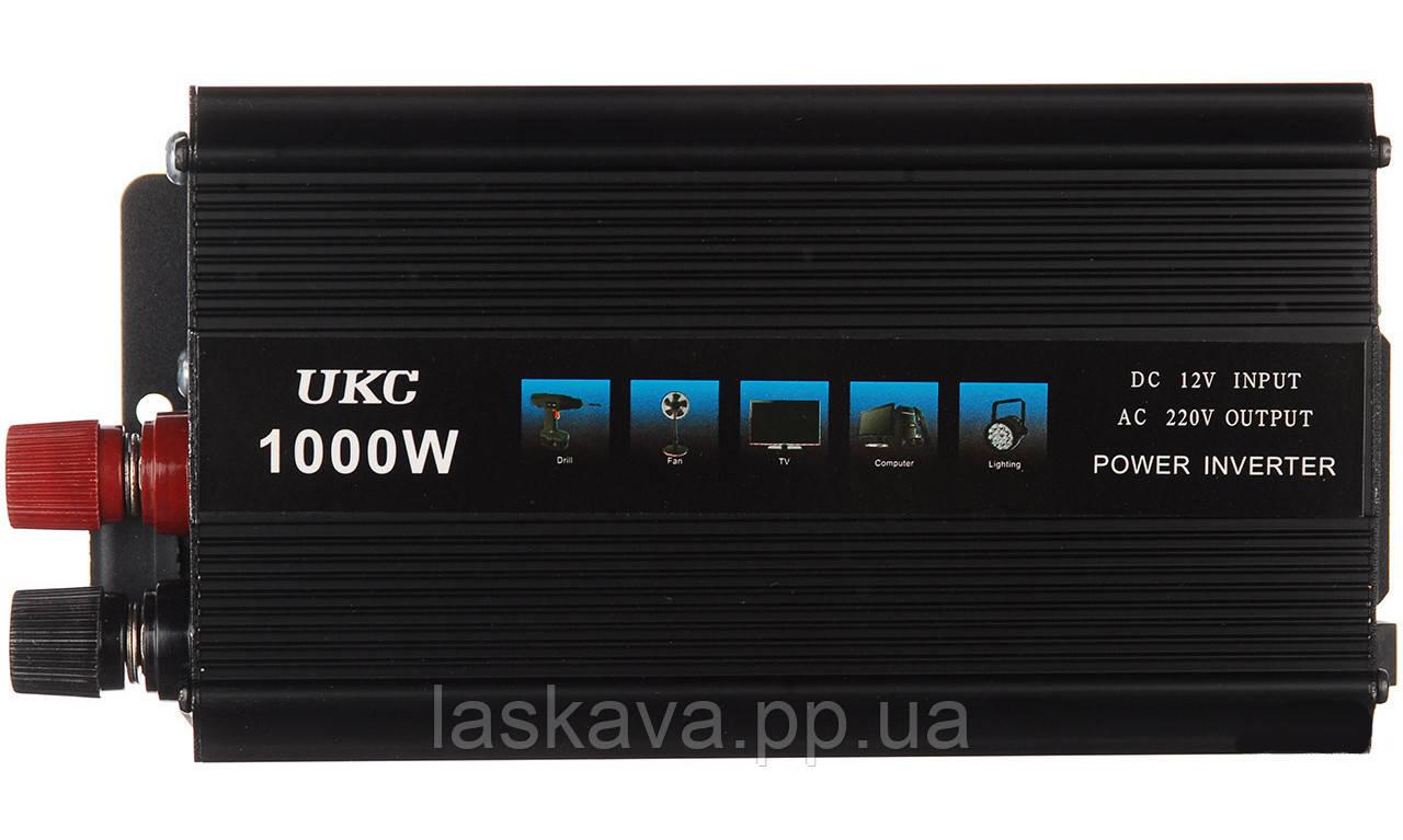 Перетворювач напруги(інвертор) UKC 12-220V 1000W Black (1687)