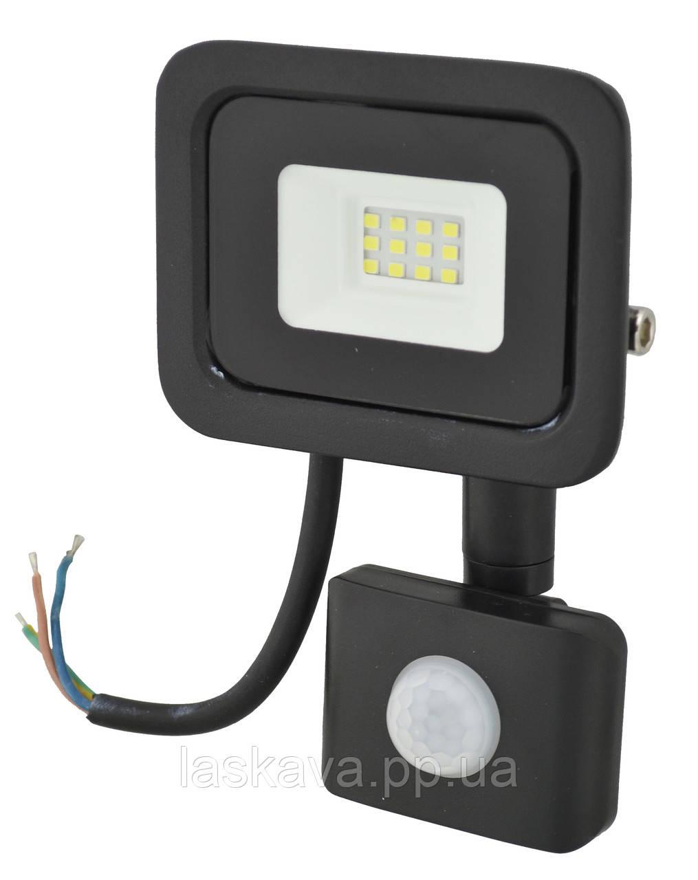 Прожектор LED c датчиком движения Ritar RT- FLOOD/MS 10A 10W IP65 1000Lm Black (01202) Siamo