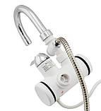 Проточний водонагрівач з душем Delimano 3000 Вт на кран (підключення ззаду), фото 2