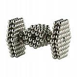 Неокуб Neocube 216 шариков 4мм в металлическом боксе серебристый (13428) Siamo, фото 2