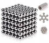 Неокуб Neocube 216 шариков 4мм в металлическом боксе серебристый (13428) Siamo, фото 4