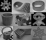 Неокуб Neocube 216 шариков 4мм в металлическом боксе серебристый (13428) Siamo, фото 7