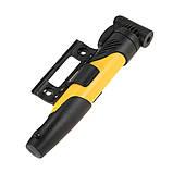 Ручний велосипедний насос з кріпленням DUUTI PP-05 Yellow, фото 3