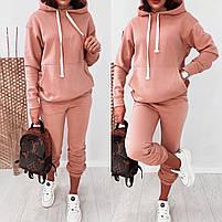 Теплый женский спортивный костюм с худи с капюшоном из трехнити на флисе  (Норма), фото 4